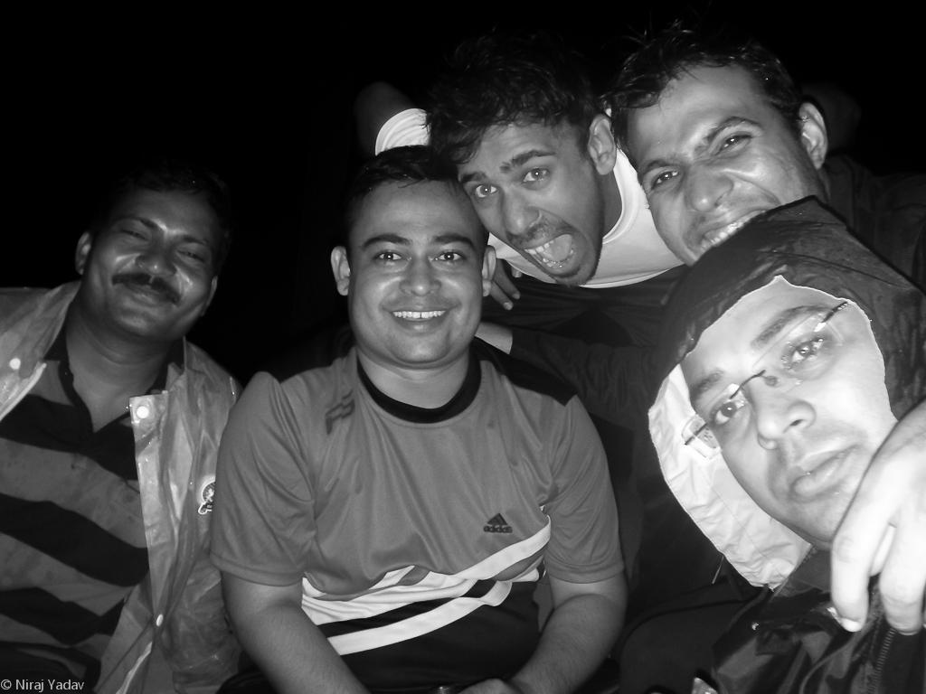 Sitting in shamshan ghat in midnight