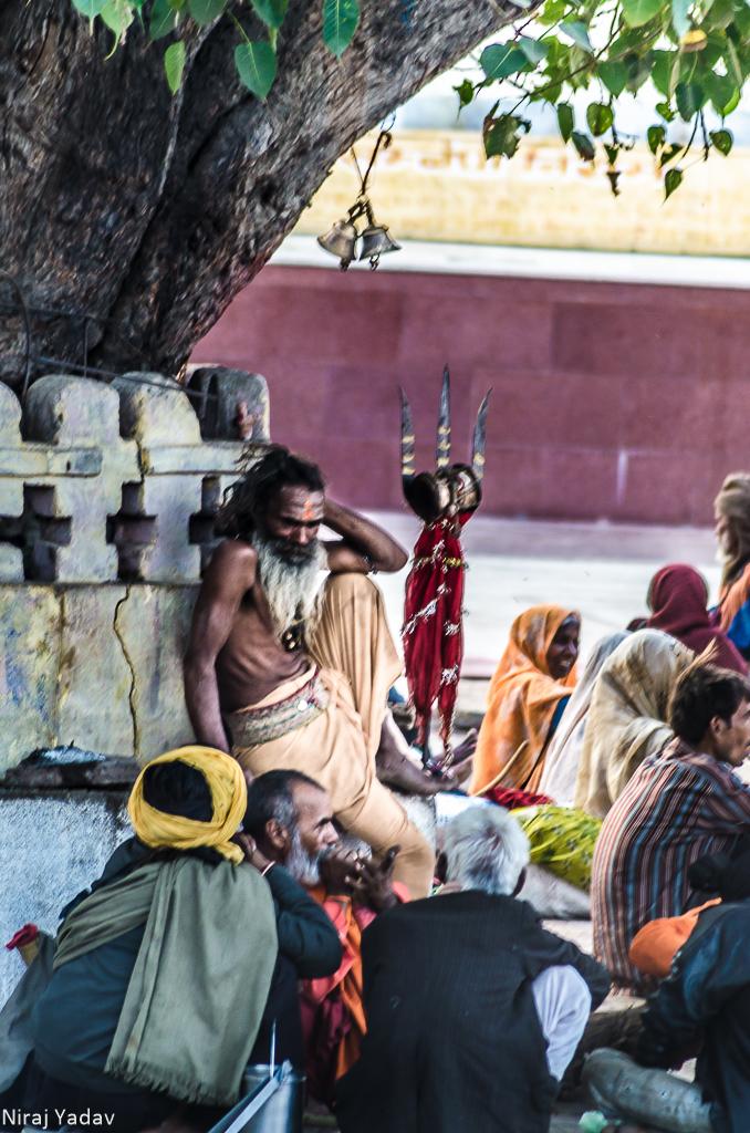 Sadhu in Raja Ram temple Orchha