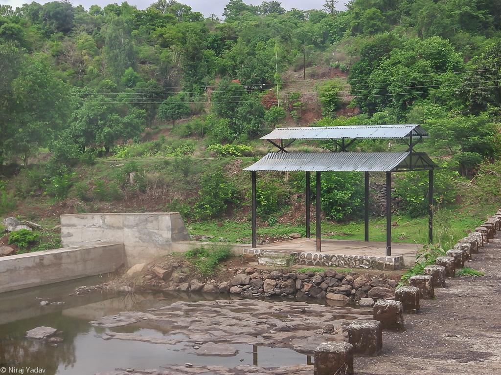 Hindu cremation ground in Khadki village