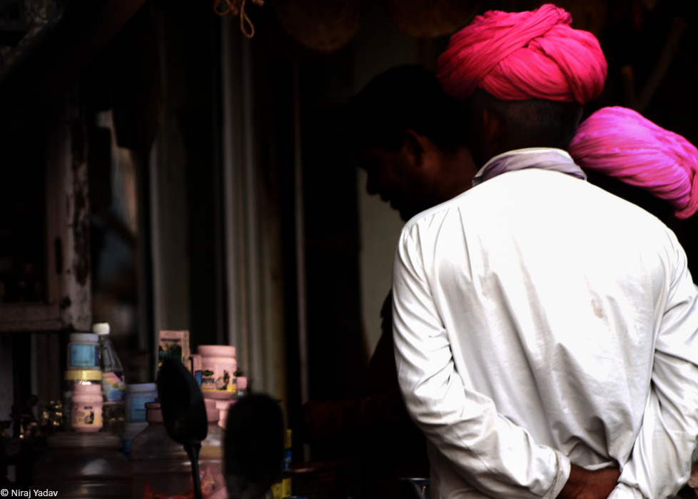 Rajasthani turban man photo
