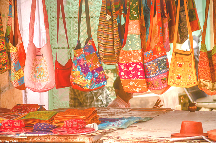 Handicraft bags at Gadisar lake jaisalmer, Rajasthan