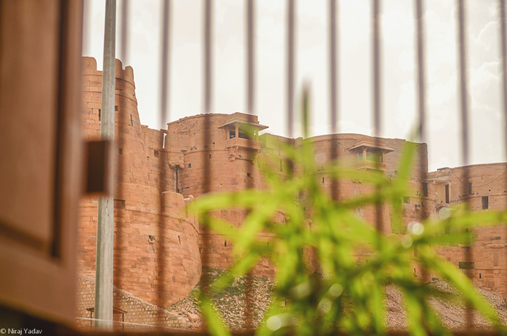 Jaisalmer Fort through Cafe windows