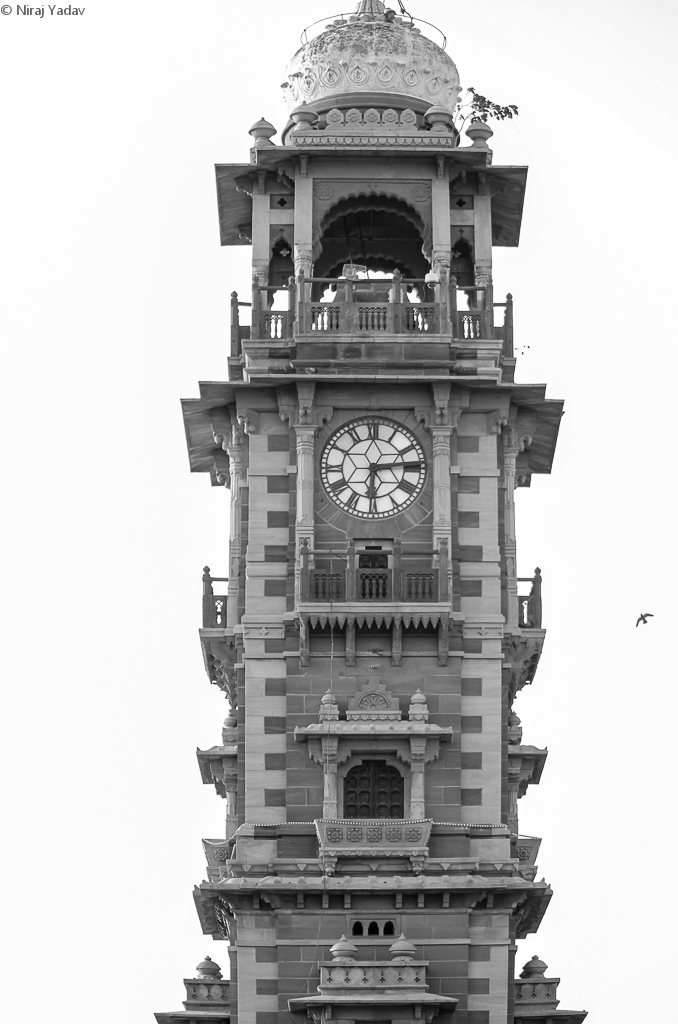 Clock tower in Jodhpur market