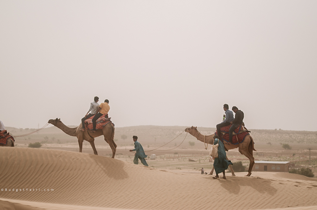 Sam sand dunes, budgetyatri