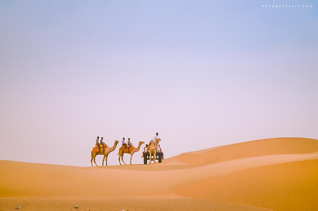 Sam sand dune desert safari jaisalmer, budgetyatri