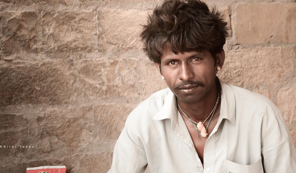 Jaisalmer Rajasthani man portrait image
