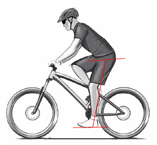 How much should be Bicycle seat height