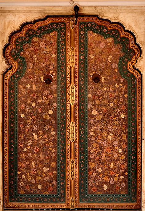 Hawa Mahal embroidered door