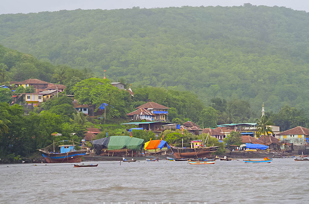 Konkani village, Dabhol, Vashishti, Konkan, Fishing village