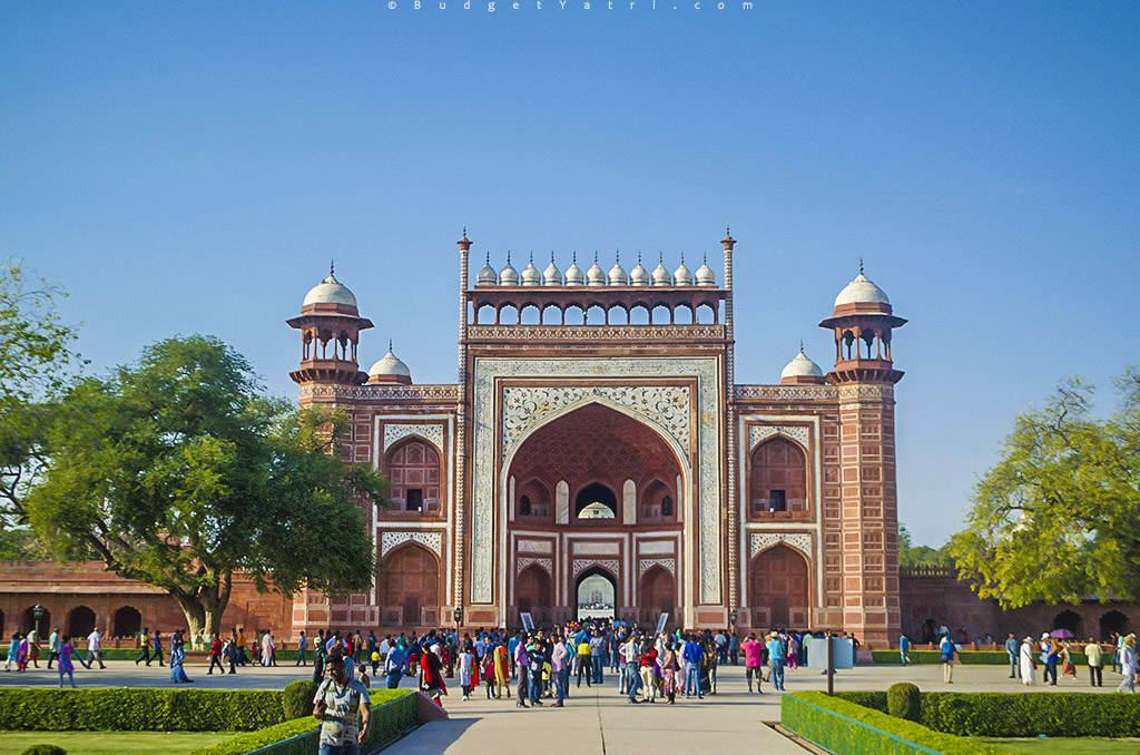 Taj Mahal, entry gate, Agra, wallpaper