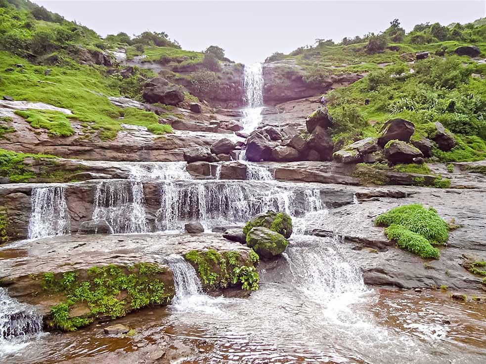 waterfall, trekking, lonavala, maharashtra