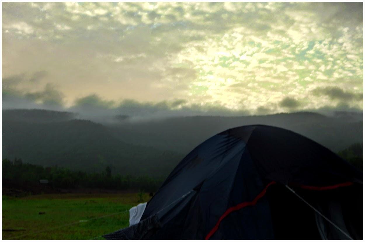 vasota fort camping in bamnoli satara