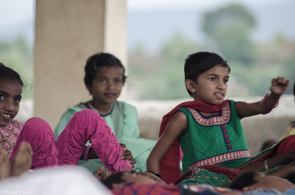 Tribal girls doing Yoga