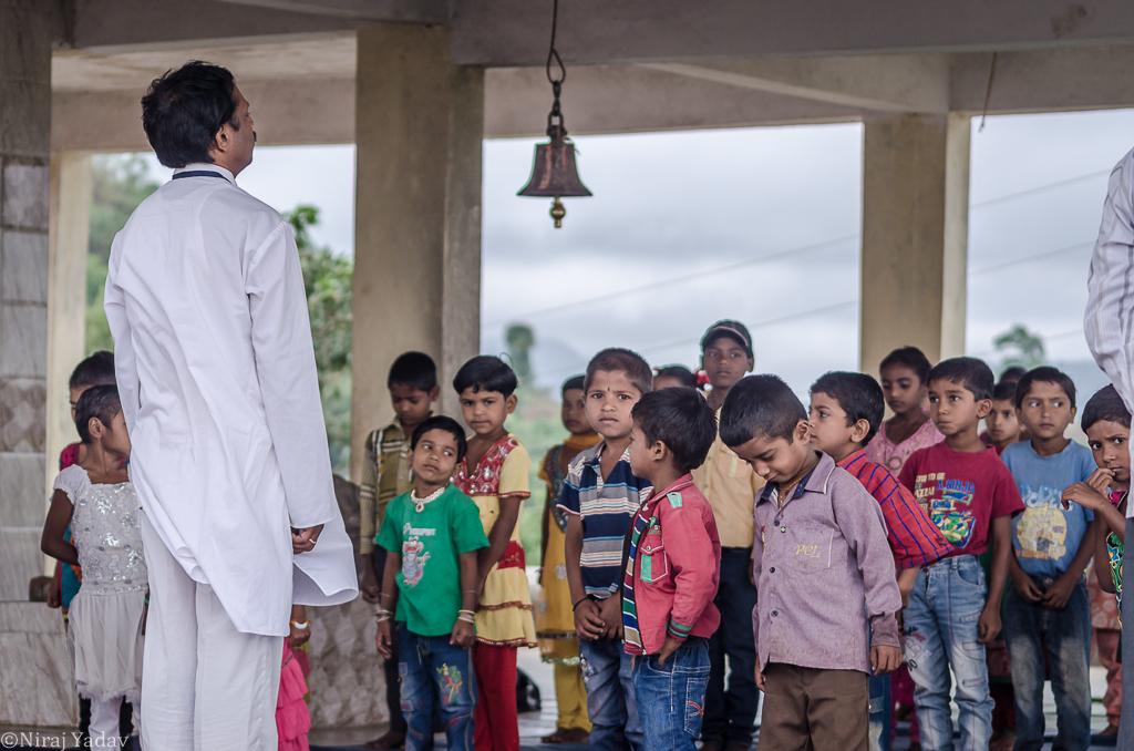 International Yoga Day celebration in Indian tribal village