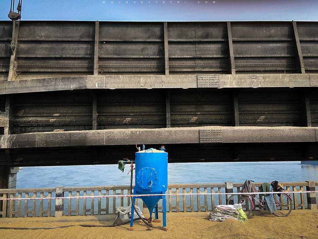 Koshi barrage bridge, Kosi river dam
